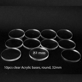 Acrylic Base: Round 32mm (10 Pcs)