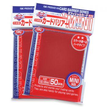 KMC Mini Sleeves: Metallic Red (62x89mm) - 50 stuks