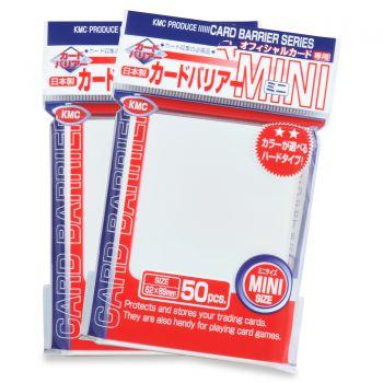 KMC Mini Sleeves: Pearl White (62x89mm) - 50 stuks