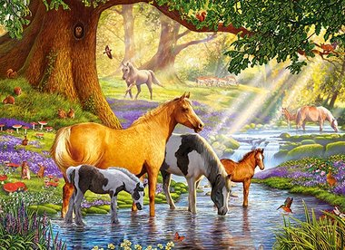Horses by the Stream - Puzzel (300)