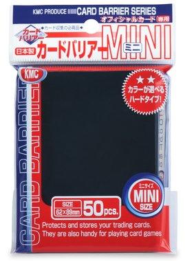 KMC Mini Sleeves: Black (62x89mm) - 50 stuks