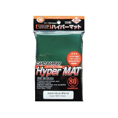 KMC Standard Sleeves (Hyper Mat): Green (66x91mm) - 80 stuks