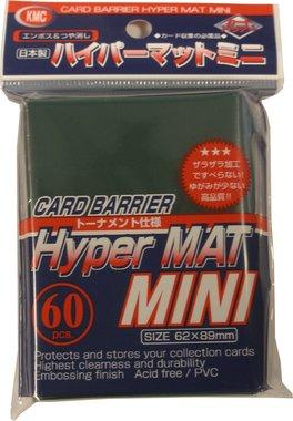 KMC Mini Sleeves (Hyper Mat): Green (62x89mm) - 60 stuks