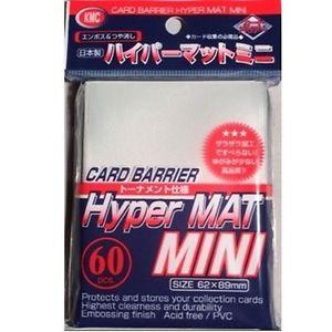 KMC Mini Sleeves (Hyper Mat): White (62x89mm) - 60 stuks