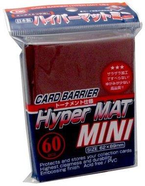 KMC Mini Sleeves (Hyper Mat): Red (62x89mm) - 60 stuks