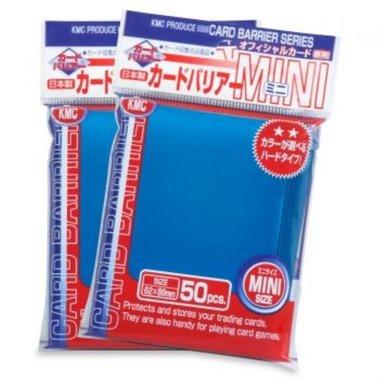 KMC Mini Sleeves: Blue (62x89mm) - 50 stuks