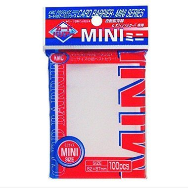 KMC Mini Sleeves: Clear (62x87mm) - 100 stuks