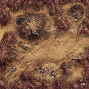 Star Wars Legion: Desert Junkyard Game Mat
