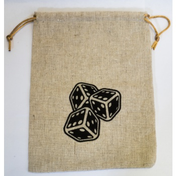 Flax Dice Bag (15x20cm)