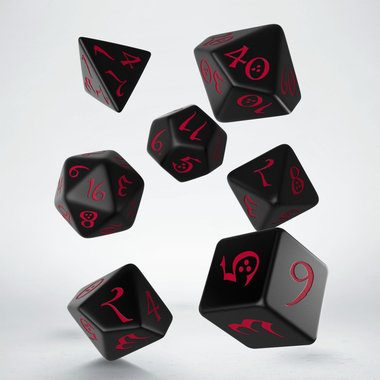 Dobbelstenen Classic RPG Dice Set Black/Red (7 stuks)