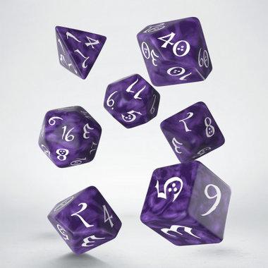 Dobbelstenen Classic RPG Dice Set Lavender/White (7 stuks)