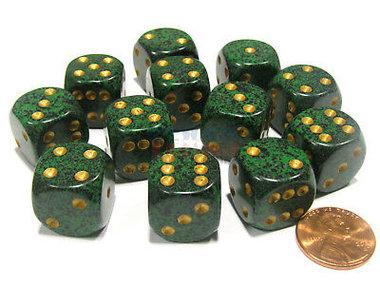 Dobbelsteen Golden Recon Speckled - D6 - 16mm
