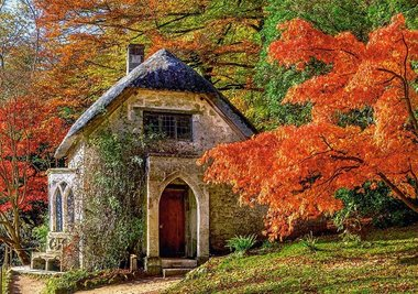 Gothic House in Autumn - Puzzel (500)