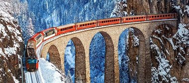 Landwasser Viaduct, Swiss Alps  - Puzzel (600)
