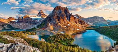 Assiniboine Sunset, Banff National Park, Canada  - Puzzel (600)