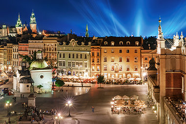 Krakow Main Square at Night - Puzzel (600)