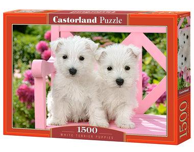 White Terrier Puppies - Puzzel (1500)