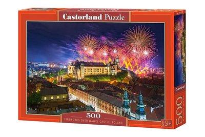Fireworks over Wawel Castle, Poland - Puzzel (500)