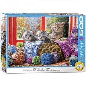 Knittin' Kittens - Puzzel (500XL)