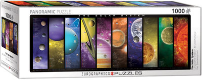 The Solar System - Panorama Puzzel (1000)