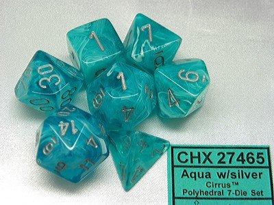 Cirrus Aqua/Silver Polydice (7)