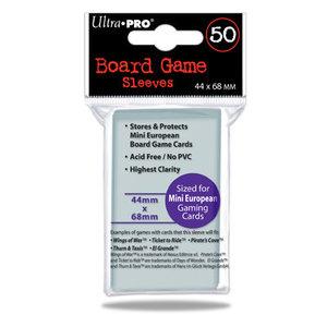 Ultra Pro Board Game Sleeves: Mini European (44x68mm) - 50 stuks