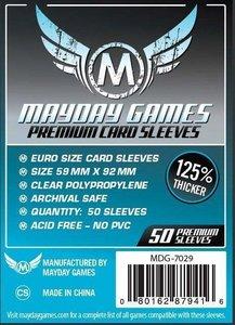 Mayday Card Sleeves (Premium): Euro (59x92mm) - 50 stuks