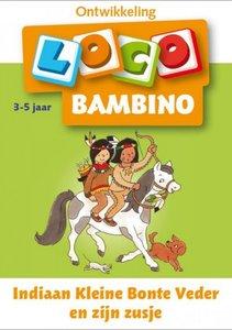 Bambino Loco - Indiaan Kleine Bonte Veder en zijn zusje (3-5 jaar)