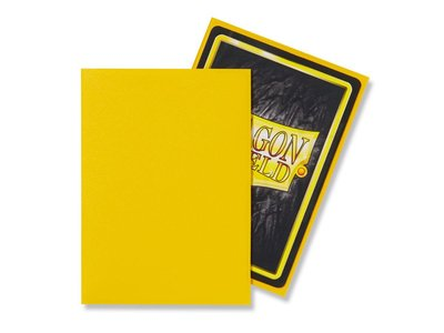 Dragon Shield Card Sleeves: Standard Matte Yellow (63x88mm) - 100 stuks