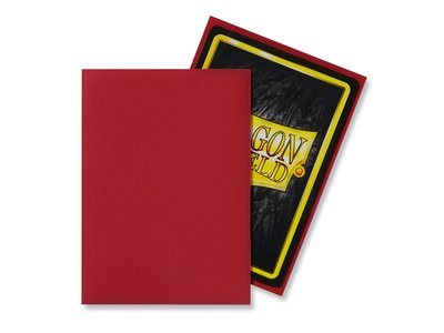 Dragon Shield Card Sleeves: Standard Matte Red (63x88mm)