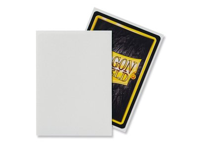 Dragon Shield Card Sleeves: Standard Matte White (63x88mm)