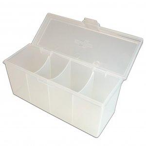 4 Compartment Storage Box (Clear)
