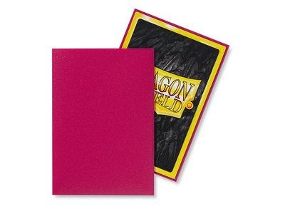 Dragon Shield Card Sleeves: Japanese Matte Magenta (59x86mm)
