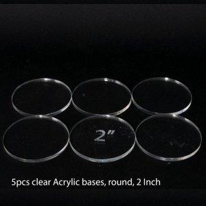 Acrylic Base: Round 2Inch (5 Pcs)