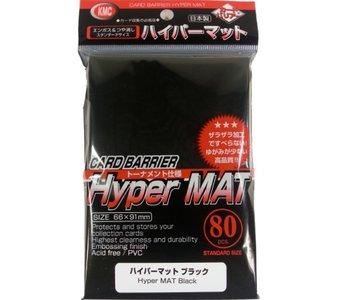 KMC Standard Sleeves (Hyper Mat): Black (66x91mm) - 80 stuks