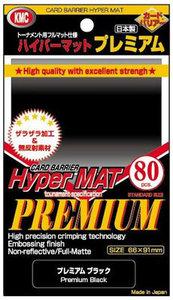 KMC Standard Sleeves (Hyper Mat Premium): Premium Black (66x91mm) - 80 stuks