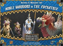 Massive Darkness: Heroes & Monster Set – Noble Warriors vs The Cockatrix