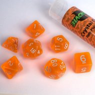 Dobbelstenen Crystal Orange Polydice (7 stuks)