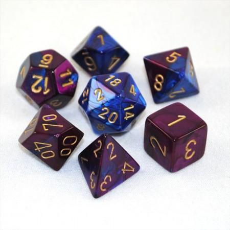 Afbeelding van het spelletje Gemini Blue-Purple/Gold Polydice (7)