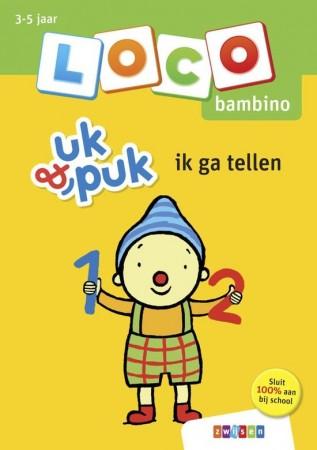 Afbeelding van het spelletje Loco Bambino Boekje - Uk&Puk: Ik ga tellen