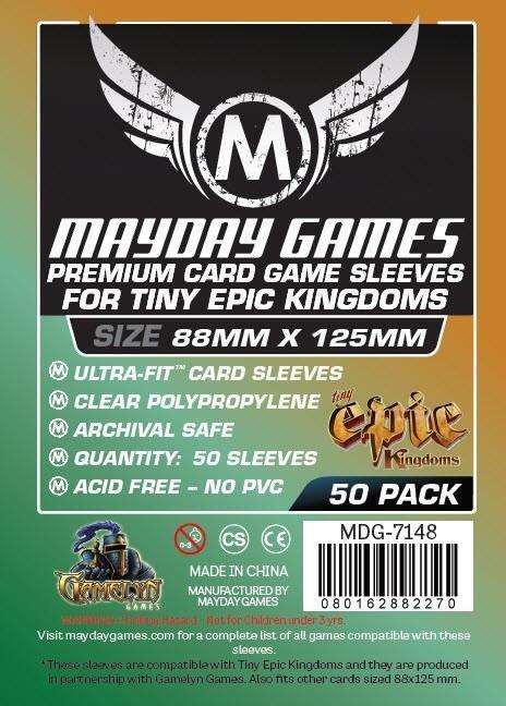 Afbeelding van het spel Mayday Card Sleeves (Premium): Custom Tiny Epic Kingdoms (88x125mm) - 50 stuks