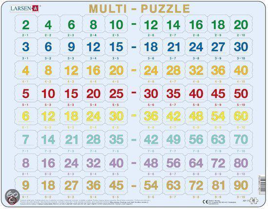 Afbeelding van het spelletje Puzzel LARSEN: Tafels (80)